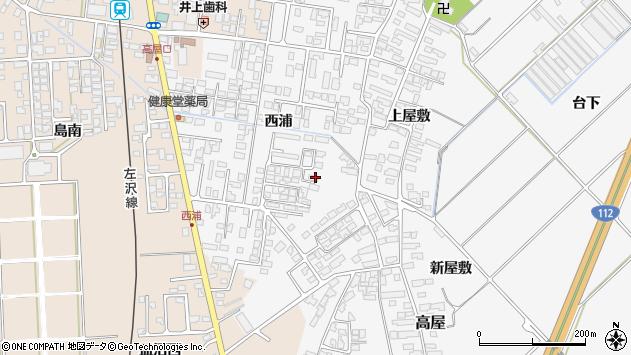 山形県寒河江市高屋西浦61周辺の地図