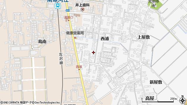 山形県寒河江市高屋西浦438周辺の地図