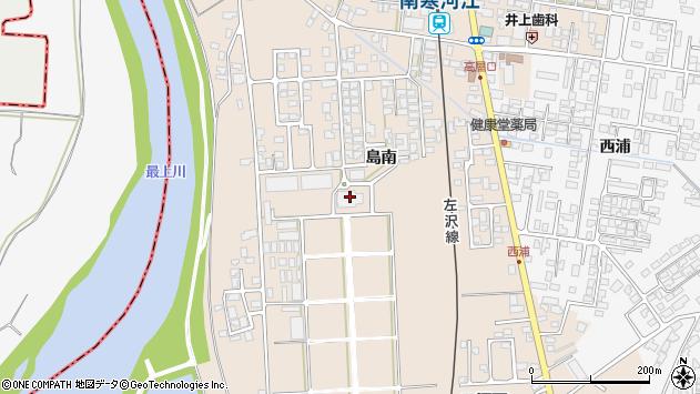 山形県寒河江市島島南423周辺の地図