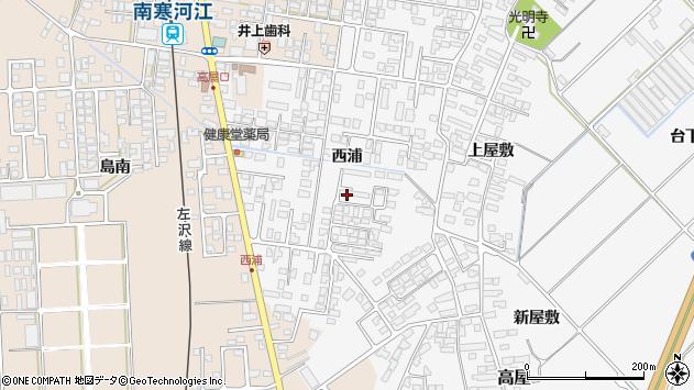 山形県寒河江市高屋西浦413周辺の地図