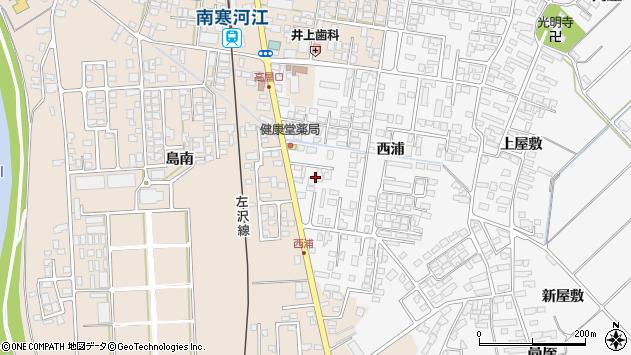 山形県寒河江市高屋西浦426周辺の地図