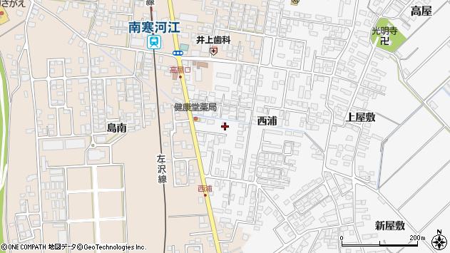 山形県寒河江市高屋西浦424周辺の地図