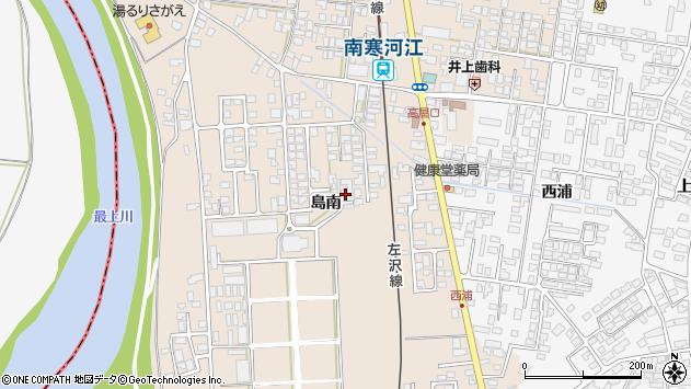山形県寒河江市島417周辺の地図