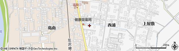 山形県寒河江市高屋西浦427周辺の地図
