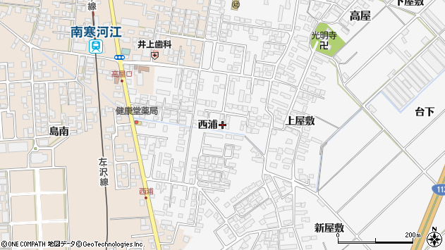 山形県寒河江市高屋西浦401周辺の地図