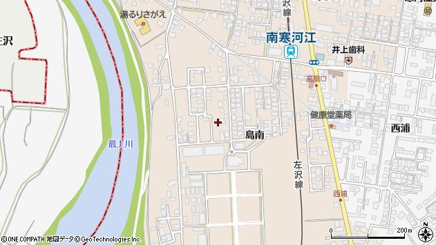 山形県寒河江市島399周辺の地図
