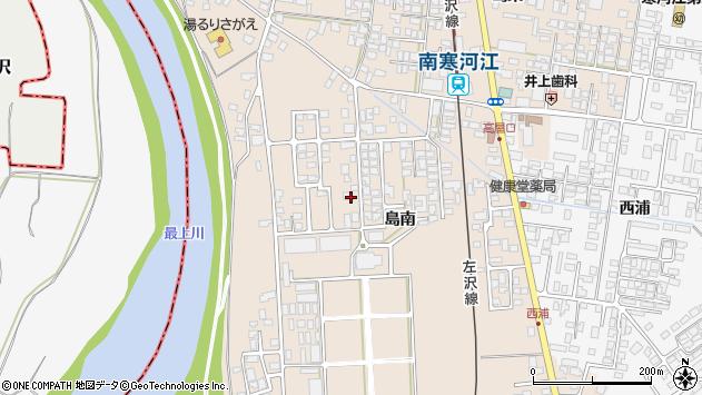 山形県寒河江市島409周辺の地図