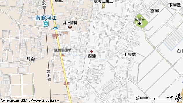 山形県寒河江市高屋西浦398周辺の地図