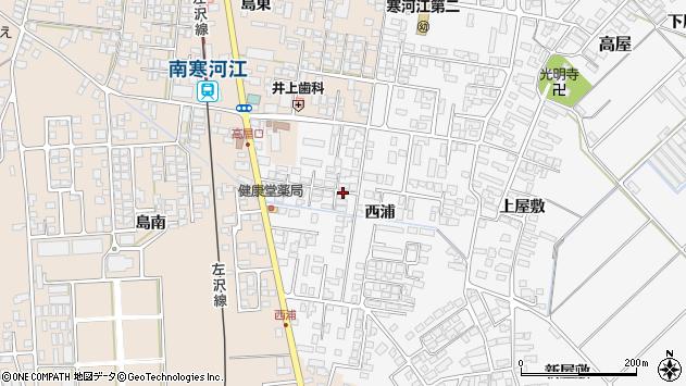 山形県寒河江市高屋西浦394周辺の地図