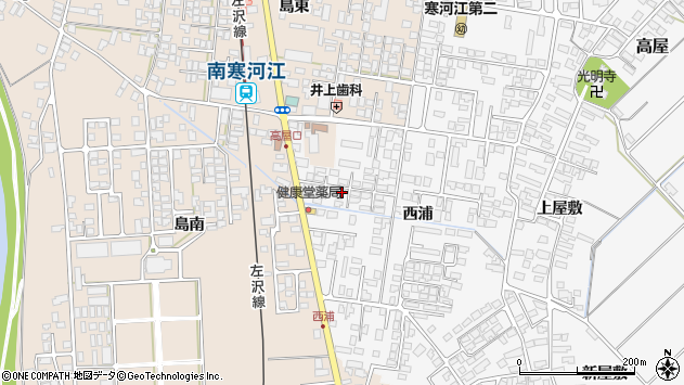 山形県寒河江市高屋西浦390周辺の地図