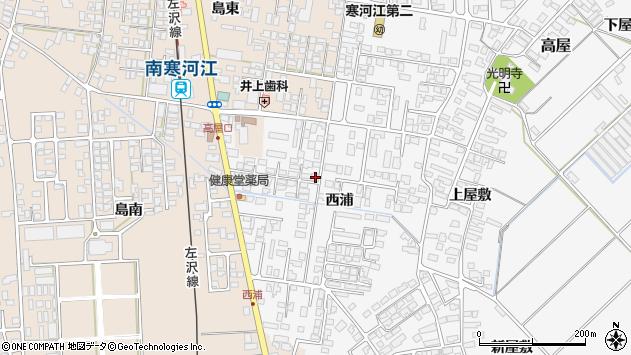 山形県寒河江市高屋西浦395周辺の地図