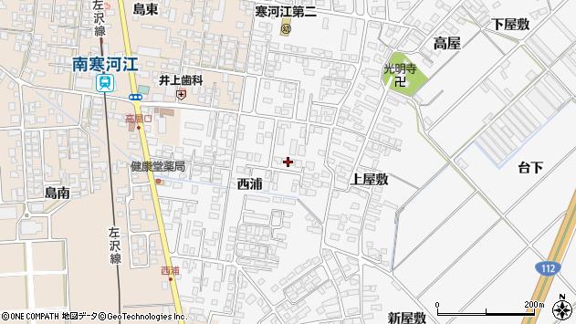 山形県寒河江市高屋西浦403周辺の地図