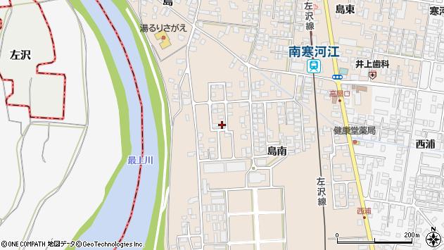 山形県寒河江市島島南1106周辺の地図
