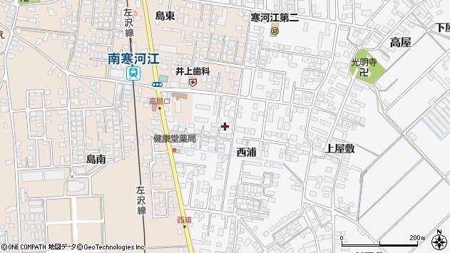 山形県寒河江市高屋西浦393周辺の地図