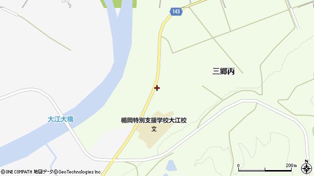 山形県西村山郡大江町三郷丙1208周辺の地図