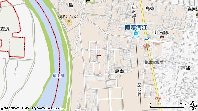 山形県寒河江市島島南周辺の地図