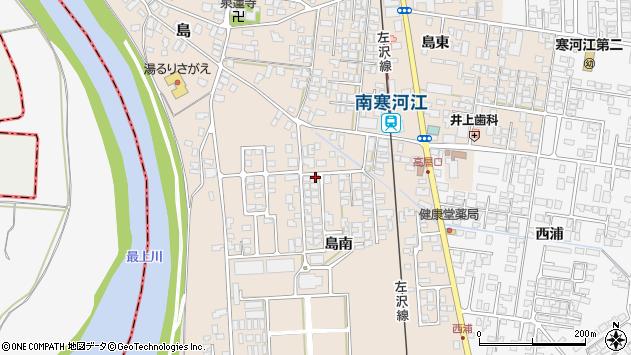 山形県寒河江市島島南321周辺の地図