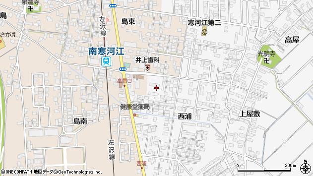 山形県寒河江市高屋西浦100周辺の地図