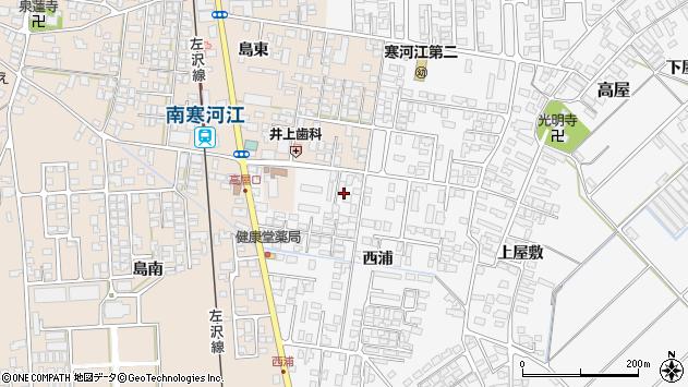 山形県寒河江市高屋西浦96周辺の地図
