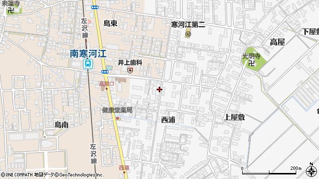 山形県寒河江市高屋西浦94周辺の地図