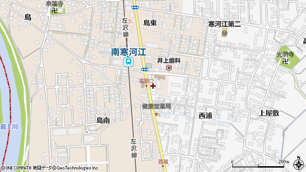 山形県寒河江市高屋西浦175周辺の地図