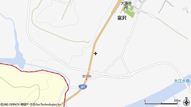山形県西村山郡大江町富沢196周辺の地図
