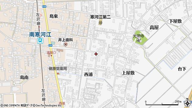 山形県寒河江市高屋西浦90周辺の地図