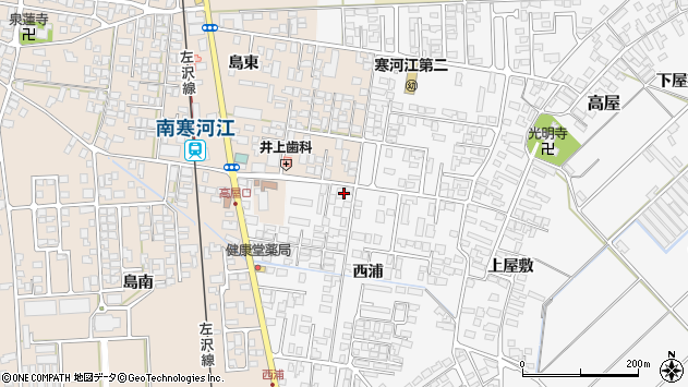 山形県寒河江市高屋西浦95周辺の地図