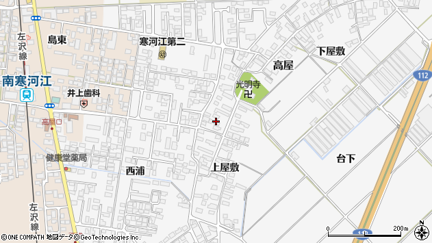山形県寒河江市高屋202周辺の地図