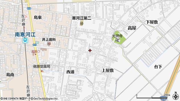 山形県寒河江市高屋西浦49周辺の地図
