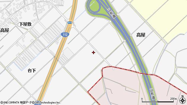 山形県寒河江市高屋338周辺の地図