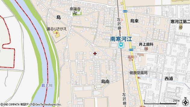 山形県寒河江市島305周辺の地図