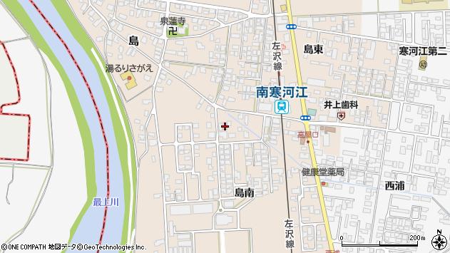 山形県寒河江市島306周辺の地図