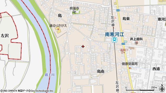 山形県寒河江市島島南1127周辺の地図