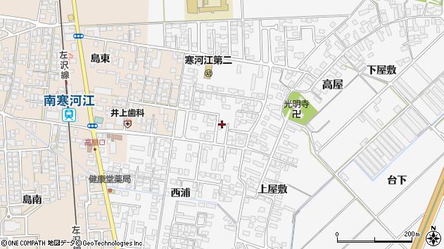 山形県寒河江市高屋西浦51周辺の地図
