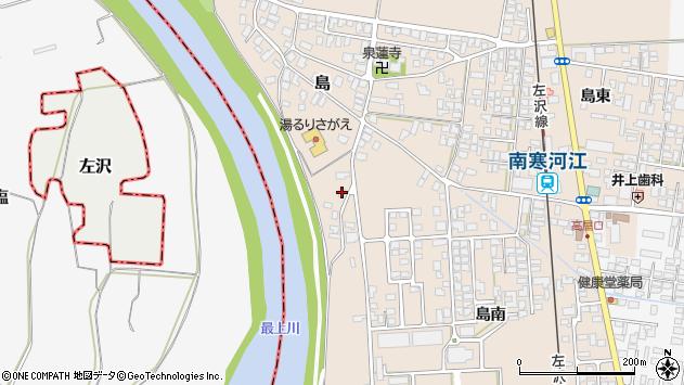山形県寒河江市島162周辺の地図