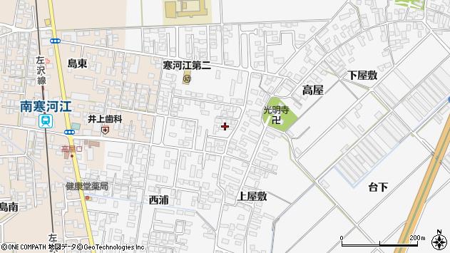 山形県寒河江市高屋西浦41周辺の地図