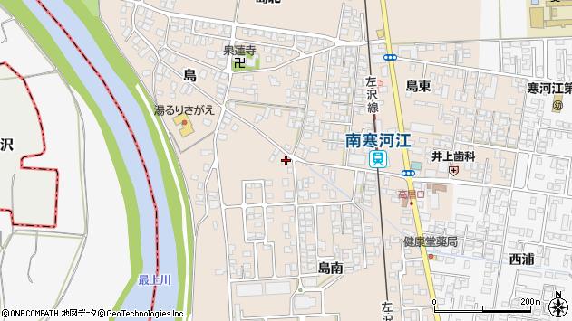 山形県寒河江市島303周辺の地図