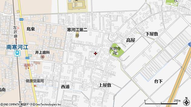 山形県寒河江市高屋西浦38周辺の地図