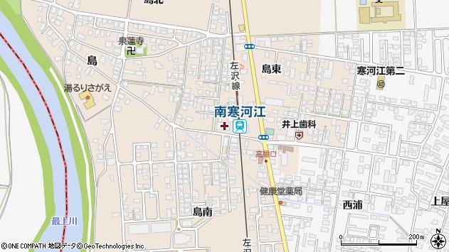 山形県寒河江市島島東30周辺の地図