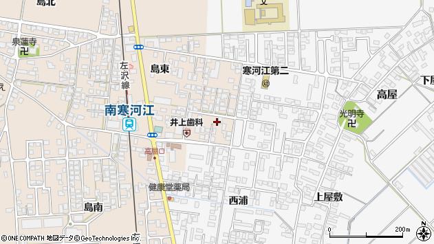 山形県寒河江市島島東282周辺の地図