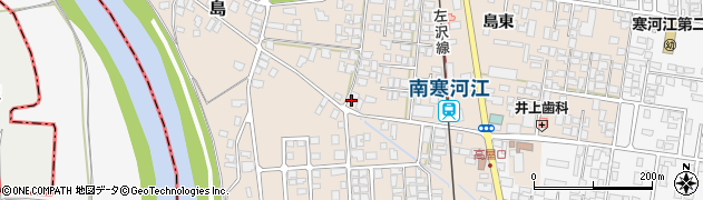 山形県寒河江市島41周辺の地図