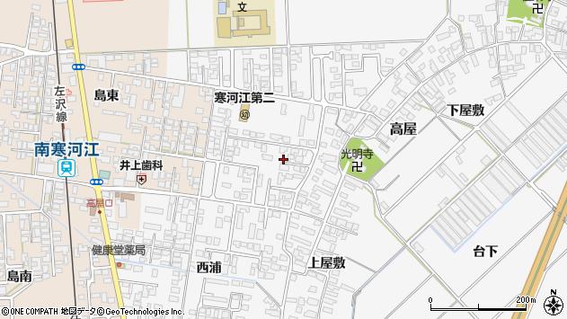 山形県寒河江市高屋西浦36周辺の地図