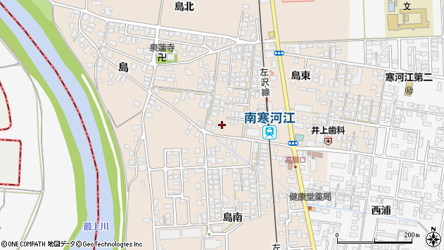 山形県寒河江市島42周辺の地図