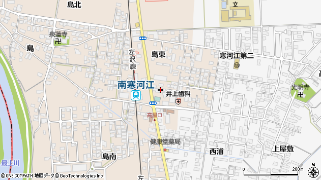 山形県寒河江市島228周辺の地図