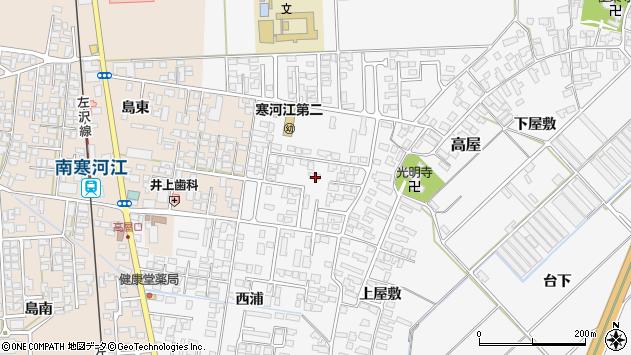 山形県寒河江市高屋西浦33周辺の地図