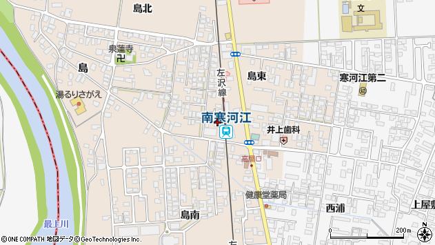 山形県寒河江市島島東周辺の地図