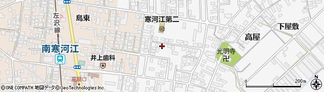 山形県寒河江市高屋西浦30周辺の地図