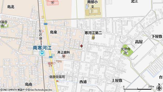 山形県寒河江市島204周辺の地図