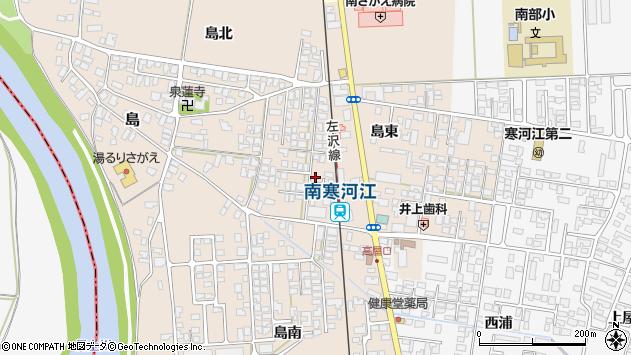 山形県寒河江市島23周辺の地図